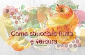 logo come sbucciare frutta e verdura